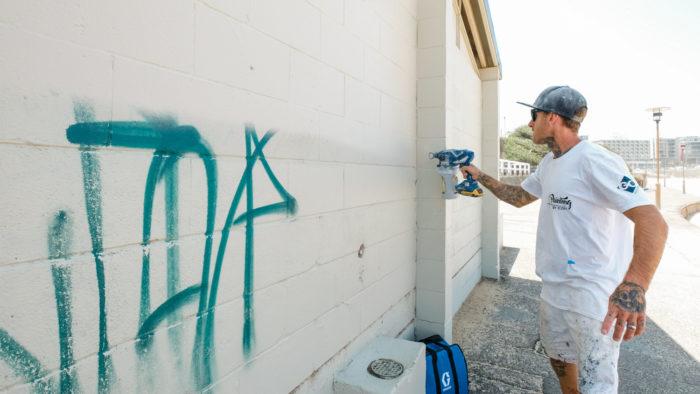 Painting by Josh Newcastle Beach Graffiti Respray