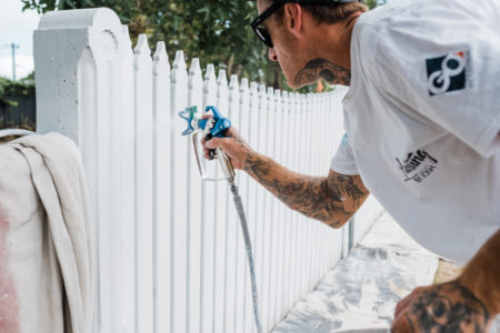 Painting by Josh Swansea Fence Respray