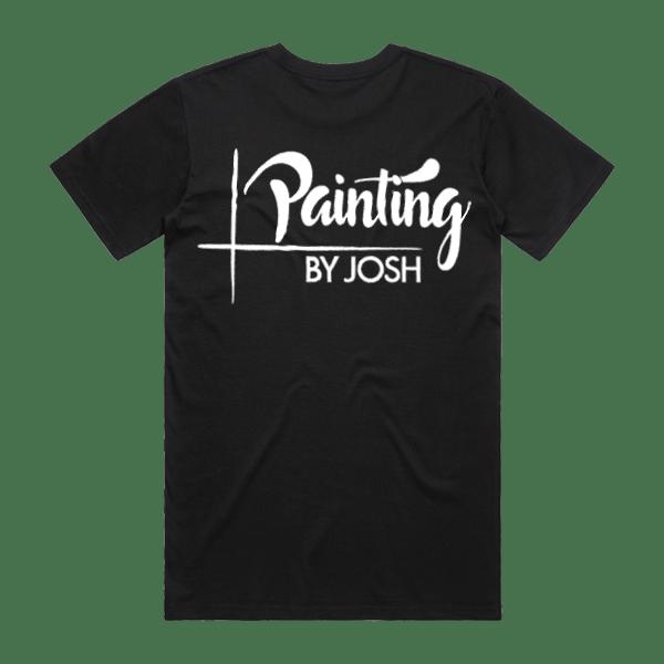 Painting by Josh - Black Tee Rear