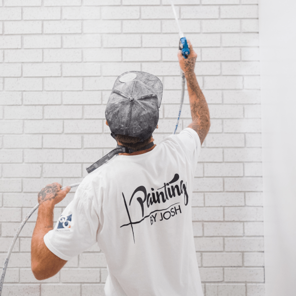 Painting by Josh and Graco White Tee