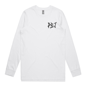 PBJ x Paint or Die Longsleeve Tee White