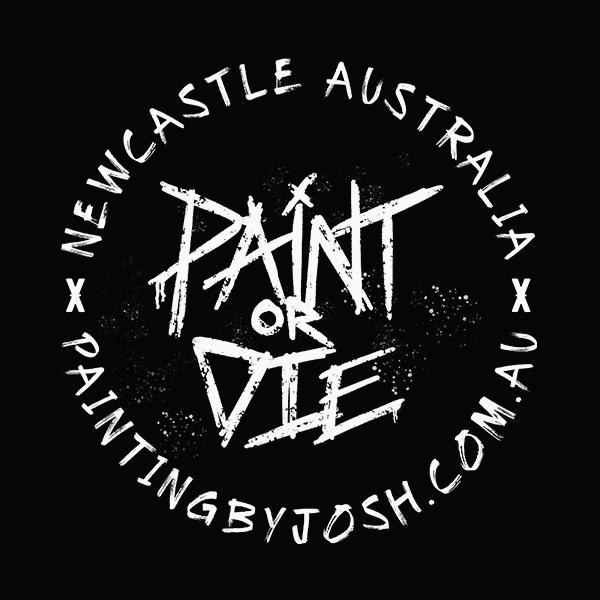 Paint or Die Sticker White